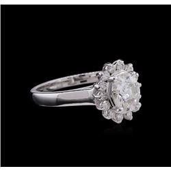 1.31 ctw Diamond Ring - 14KT White Gold