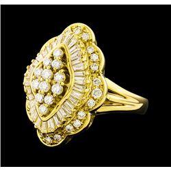 1.36 ctw Diamond Ring - 18KT Yellow Gold