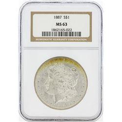 1887 MS63 NGC Morgan Silver Dollar