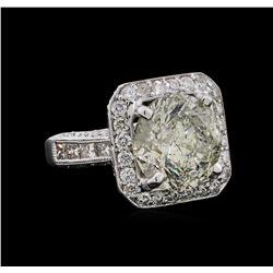 9.57 ctw Diamond Ring - 18KT White Gold