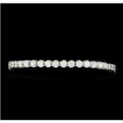 7.15 ctw Diamond Bracelet - 18KT White Gold
