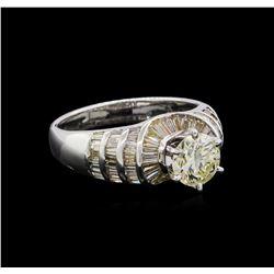 2.21 ctw Diamond Ring - 18KT White Gold