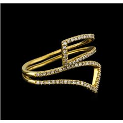 0.24 ctw Diamond Ring - 14KT Yellow Gold