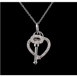 0.45 ctw Diamond Necklace - 14KT White Gold