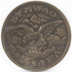 1920's Token Symwao - Miafa - (Eagle) - Anthar - Silba. Klan Token.