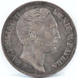 1853 Bavaria 1 Gulden - Maximilian II.