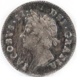 1687/6 England 3 Pence - James II.