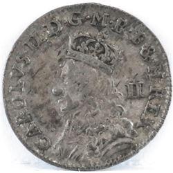 1660-1662 England 2 Pence - Charles II.