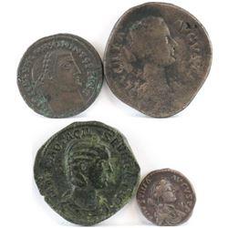 Lot of (4) Roman Empire Coins includes Maximinus, Lucilla, Otacilia Severa  Faustina.