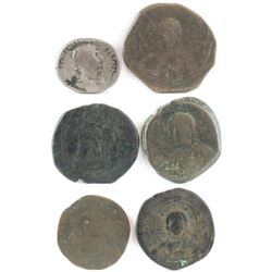 Lot of (6) Roman  Byzantine Empire Coins.