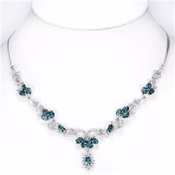 Natural Stunning London & Sky Topaz 91.25 Cts Necklace