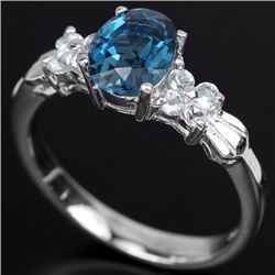 Natural Sky & London Blue Topaz  Ring