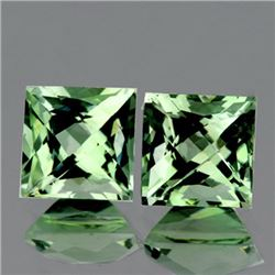 Natural Light Green Tea Amethyst Pair 10.00 MM - VVS