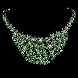 Natural  Green Emerald 514.91 Carats Necklace
