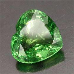 Natural Green Tsavorite Heart  2.02 ct