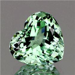 Natural Light Green Tea Amethyst Heart 9.50 MM - VVS