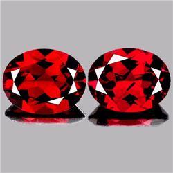 Natural Deep Red Mozambique Garnet Pair 9x7 mm - VVS