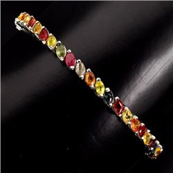 Natural Fancy Sapphire 57 Carats Tennis Bracelet