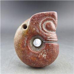 Antique Chinese Jade Zhu Long Pendant