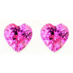 Natural Baby Pink Heart Sapphire Pair 2.25 Carats - VVS