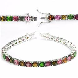 Natural Fancy Color Tourmaline 65 Carats Bracelet