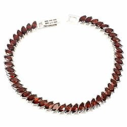 Natural  Mozambique Garnet 94 Cts Bracelet