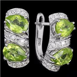 Natural Green Peridot Earring