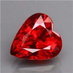 Natural Red Spessartite Garnet Heart 2.36 cts