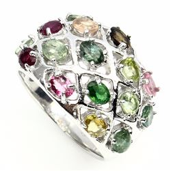 Natural Oval  Fancy Tourmaline 37 Carats Ring