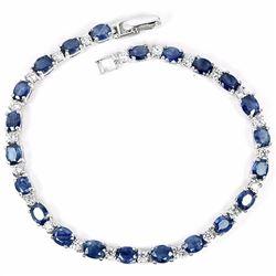 Natural Blue Sapphire 55 Carats Bracelet