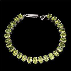 Natural  Top Rich Green Peridot 117 Carats Bracelet