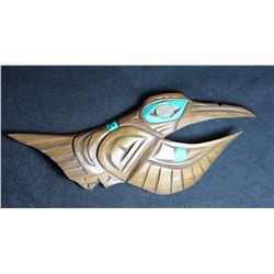 West Coast Native Hand Carved Hummingbird