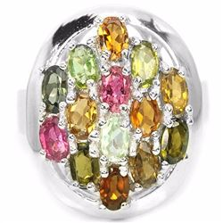 NATURAL AAA MULTI COLOR TOURMALINE 42 Ct Ring