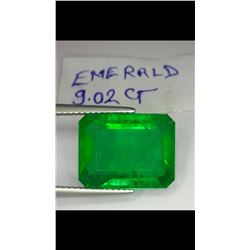 Natural Columbian Green Emerald 9.02 Carats