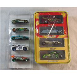 Lot of 2 Sets of HotWheels Cars Collectors Tin