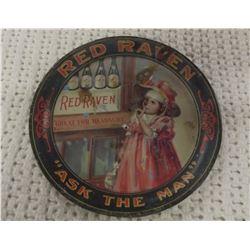 Advertising Tin RED Raven