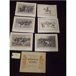 Portfolio of 6 Frederic Remington Prints