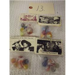 4 Sets of Vintage Marbles