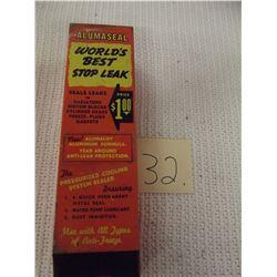 Vintage Tin Advertising Stop Leak