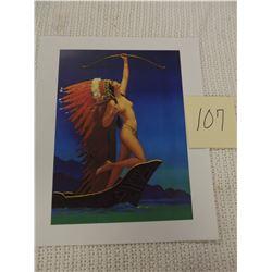 War Print Semi Nude Indian Print