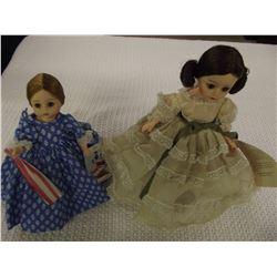 2 Vintage Madame Alexander Dolls