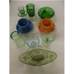 Mixed lot of 9 Pieces of glassware