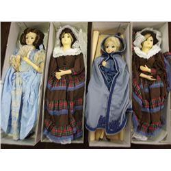 Lot of 4 Presidential Ladys Dolls