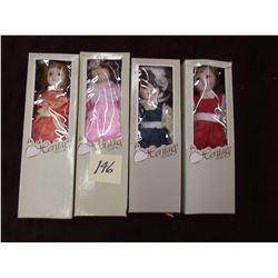 Set of 4 Heritage Vintage Dolls