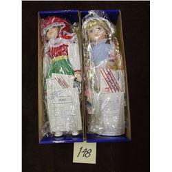 Lot of 2 Porcelain Dolls
