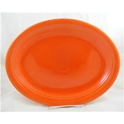 "Vintage Radioactive Red 12 5/8"" Fiestaware Platter"