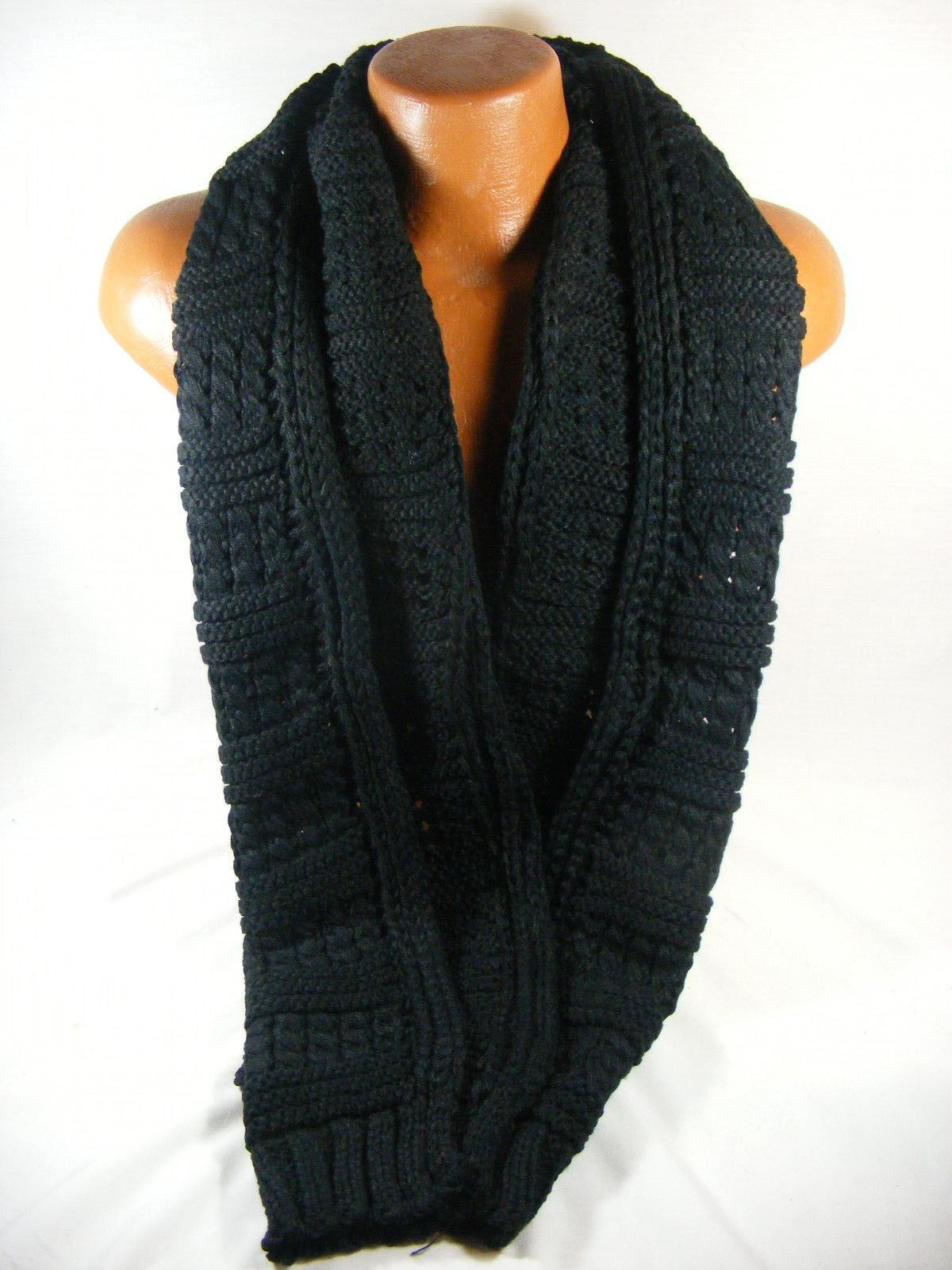 Handknit Cable Knit Muffler Scarf Oversized Soft