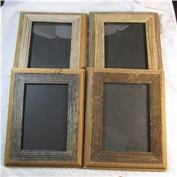 Set of 4 Handmade Barnwood Picture Frames