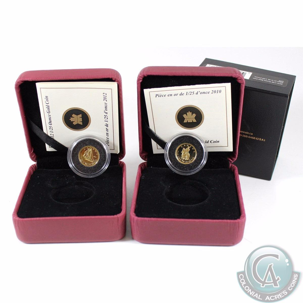 2012 Canada 50 Cents Bluenose 1//25 Ounce Gold Coin