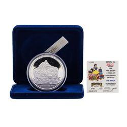 1987 Rarities Mint Walt Disney Snow White The Witch 5oz .999 Silver Coin w/Box &